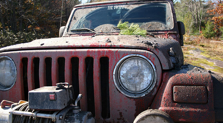 off road old jeep
